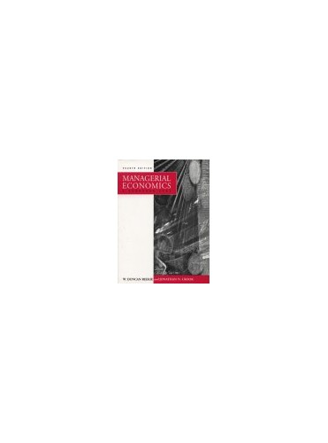 Managerial Economics By Duncan Reekie