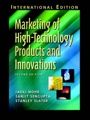 Marketing of High-Technology Products and Innovations By Jakki J. Mohr