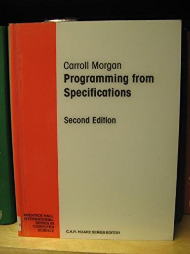 Programming from Specifications By Carroll Morgan