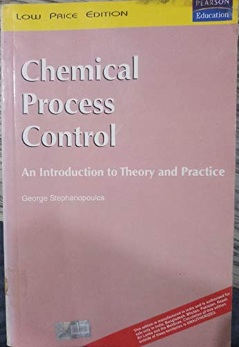 Chemical Process Control By George Stephanopoulos