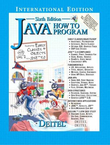 Java How to Program By Paul J. Deitel