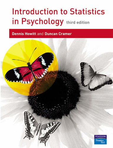Introduction to Statistics in Psychology By Dennis Howitt