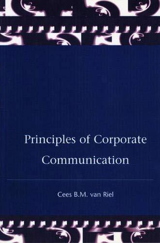 Principles Corporate Communication By Van Riel