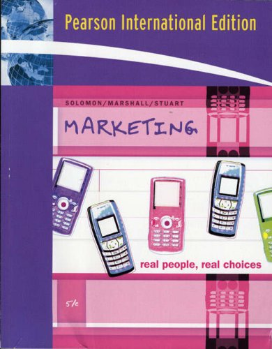 Marketing By Michael R. Solomon