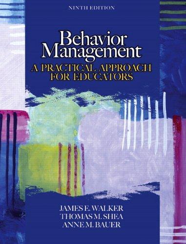 Behavior Management By James E. Walker