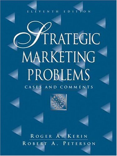 Strategic Marketing Problems By Robert Peterson