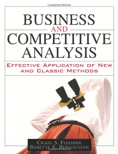 Business and Competitive Analysis By Craig S. Fleisher
