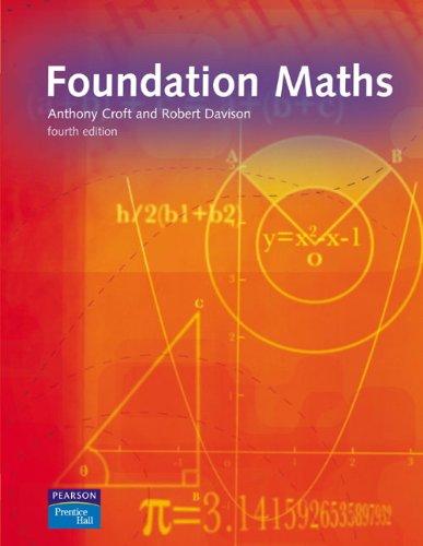 Foundation Maths By Anthony Croft