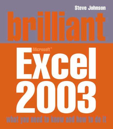 Brilliant Excel 2003 by Steve Johnson
