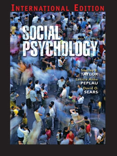 Social Psychology By Shelley E Taylor Used Well Read