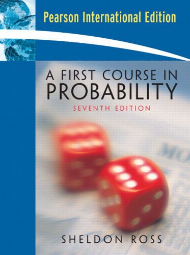 A First Course in Probability By Sheldon Ross