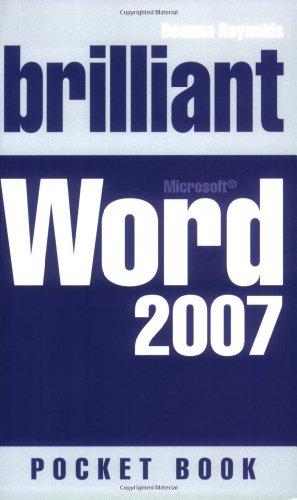 Brilliant Word 2007 Pocketbook By Deanna Reynolds