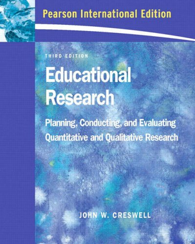 Educational Research By John W Creswell Used Very
