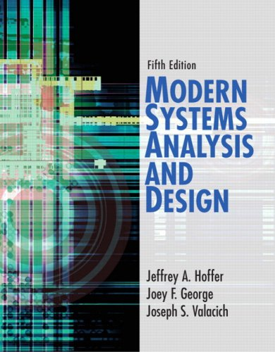 Modern Systems Analysis and Design By Jeffrey Slater