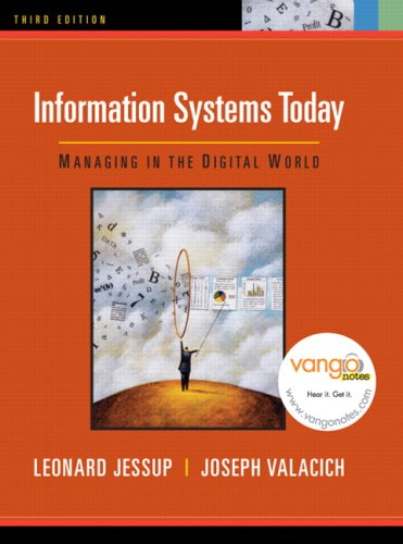 Information Systems Today By Leonard Jessup