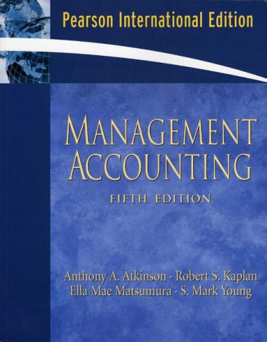 Management Accounting By Anthony A. Atkinson