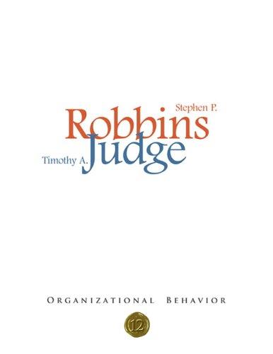 Organizational Behavior By Timothy A. Judge