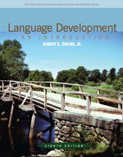 Language Development By Robert E. Owens