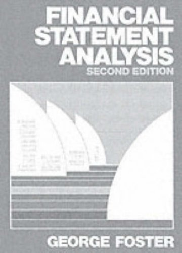 Financial Statement Analysis By George Foster