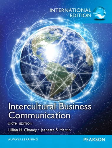 Intercultural Business Communication By Lillian H. Chaney