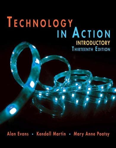 Technology In Action Introductory By Alan Evans