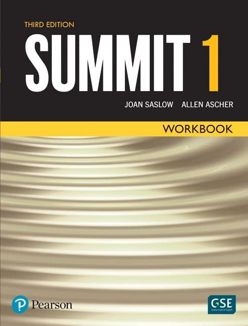 Summit Level 1 Workbook By Joan Saslow
