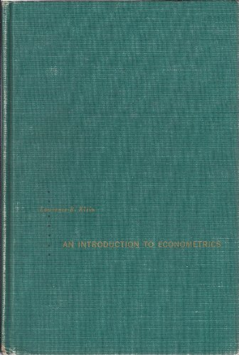Introduction to Econometrics By Lawrence R. Klein