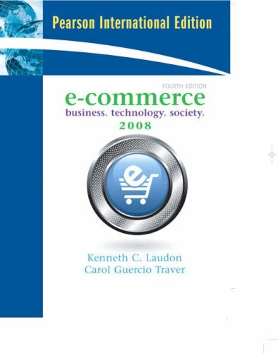 E-Commerce By Kenneth C. Laudon