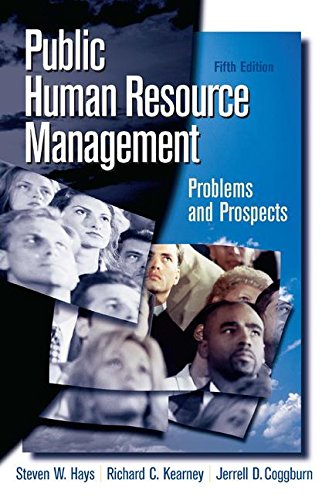 Public Human Resource Management By Steven Hays