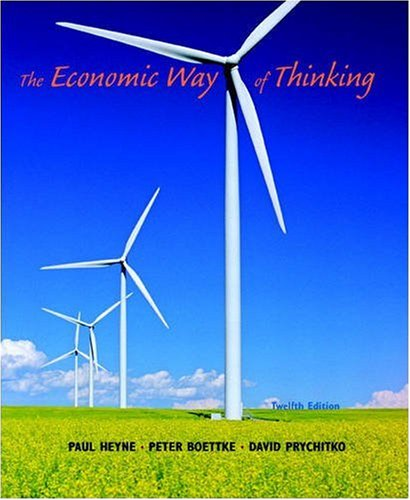 The Economic Way of Thinking By Paul L. Heyne