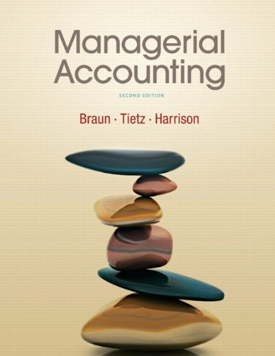 Managerial Accounting By Karen W. Braun