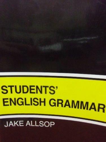 Students' English Grammar By Jake Allsop