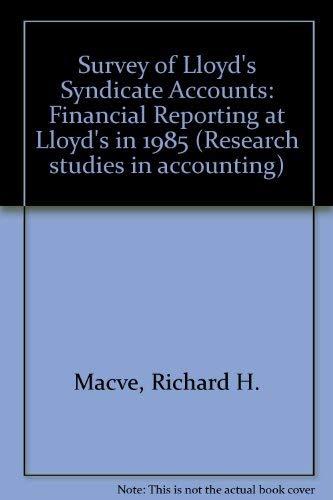 Survey of Lloyd's Syndicate Accounts By Richard H. Macve