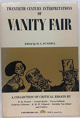 Vanity Fair By Edited by M.G. Sundell