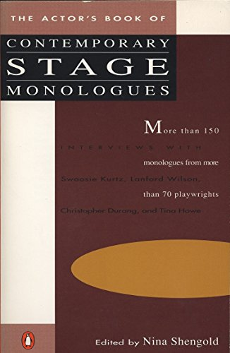 The Actor's Book of Contemporary Stage Monologues By Edited by Nina Shengold