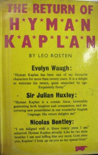 The Return of Hyman Kaplan By Leo Rosten