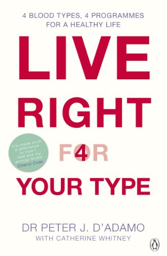 Live Right for Your Type: The Individualised Prescription for Maximizing Health, Metabolism, and Vitality in Every Stage of Your Life by Dr. Peter J. D'Adamo