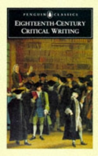 Augustan Critical Writing By David Womersley