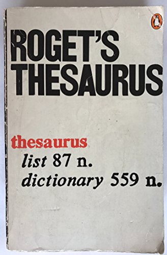 Roget's Thesaurus of English Words And Phrases (Reference Books) By Peter Roget