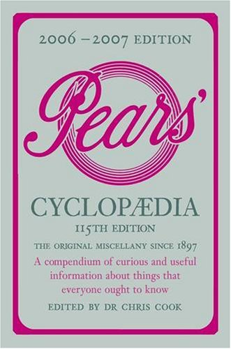 Pears Cyclopaedia By Edited by Chris Cook