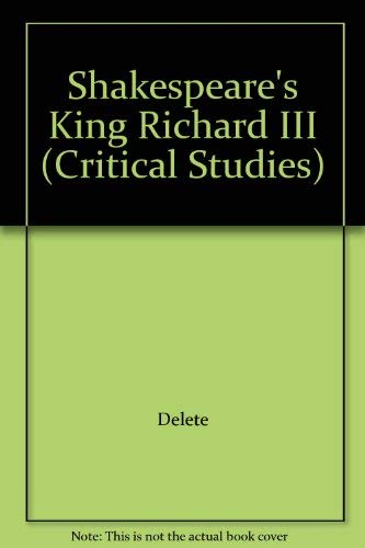 "Shakespeare's ""King Richard III"" By Charles Moseley"