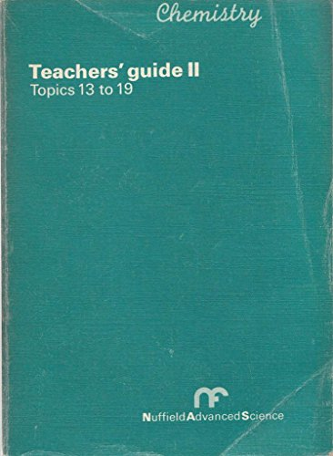 Tchrs'.Guide 2 By Nuffield Advanced Chemistry