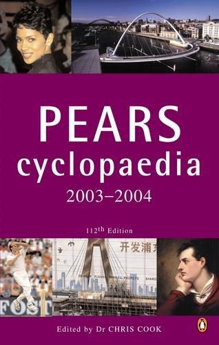 Pears Cyclopaedia By Chris Cook