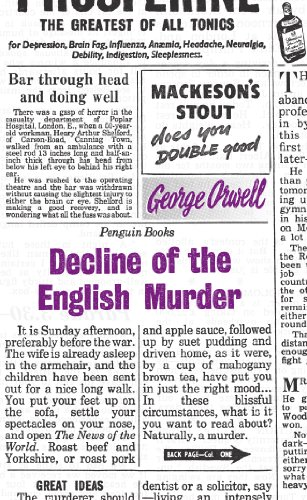 Decline of the English Murder (Penguin Great Ideas) By George Orwell