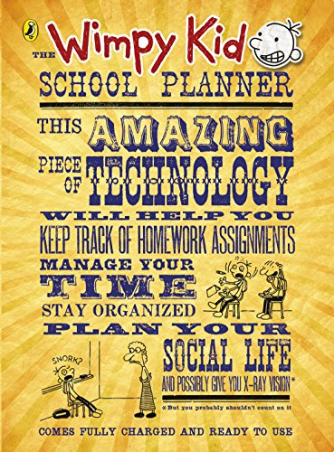 The Wimpy Kid School Planner By Jeff Kinney