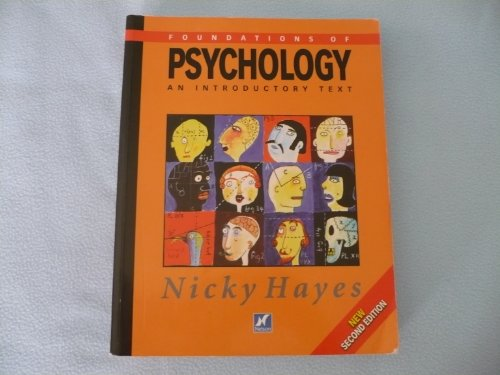 Foundations Of Psychology An Introductory Text By Nicky
