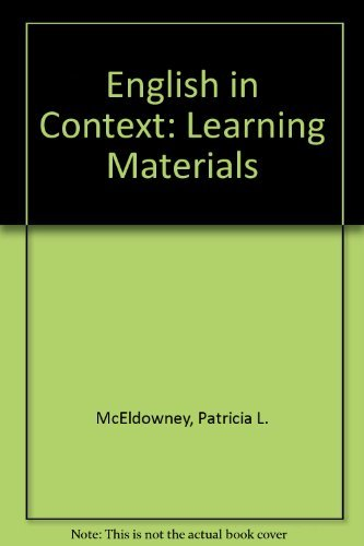 English in Context By Patricia L. McEldowney
