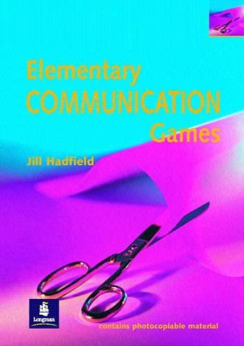 Elementary Communication Games Paper By Jill Hadfield