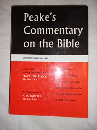 Commentary on the Bible By A. S. Peake