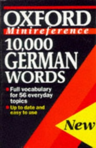 10, 000 German Words (minireference) By William Rowlinson